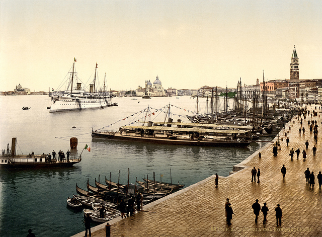 The port of Venice, Italy