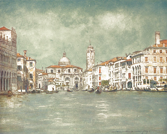 Grand Canal, showing Tower of St. Geremia