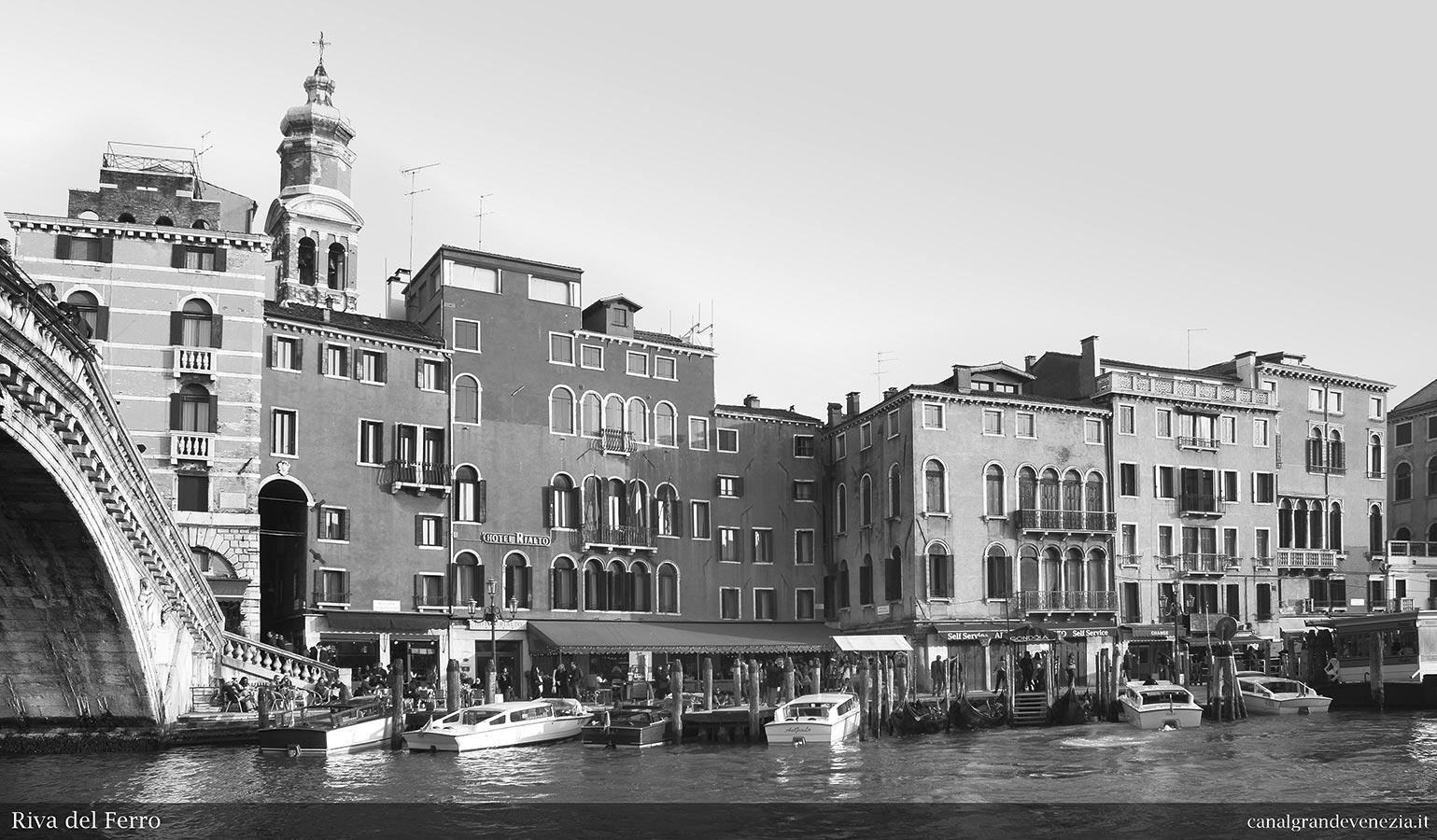 Canal grande di venezia   catalogo illustrato   riva del ferro